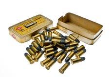 Ammunitionask cal 38 S & W den borgerliga spanjoren kriger 6 Arkivfoto