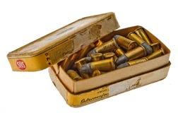 Ammunitionask cal 38 S & W den borgerliga spanjoren kriger 5 Arkivbild
