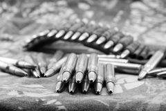 Ammunitions for rifle Royalty Free Stock Photography