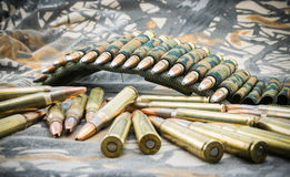 Ammunitions for rifle Stock Images