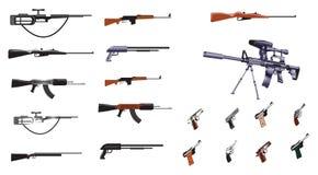 Ammuniton. Collection of ammuniton, guns, sniper, rifle Royalty Free Stock Photography