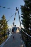 Aménagez le promontoire en parc pour voir la vue panoramique du lac Maggior, Photos libres de droits