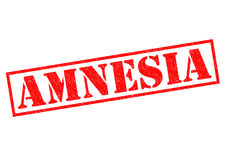 AMNESIA. Red Rubber Stamp over a white background Royalty Free Stock Photos