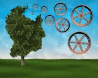 Amnesie, de Ziekte van Alzheimer ` s, het Verouderen royalty-vrije stock afbeelding