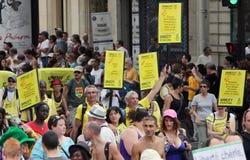 Amnesty International bij de Vrolijke Trots 2010 van Parijs Royalty-vrije Stock Foto's