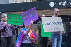 Amnesty International Chechnya Protest Royalty Free Stock Images