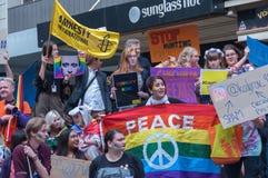 Amnesty International Chechnya Protest Stock Photos