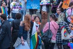 Amnesty International Chechnya Protest Royalty Free Stock Photo