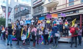 Amnesty International Czeczenia protest zdjęcia stock