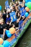 Amnesty International durante el desfile 2008 del canal Foto de archivo libre de regalías