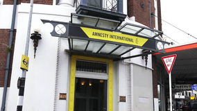 Amnesty International Headquarter in Auckland, New Zealand. Is a non-governmental organisation focused on human rights with over 7 million members and stock footage