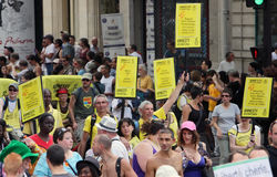 Amnesty International an Paris-homosexuellem Stolz 2010 Lizenzfreie Stockfotos