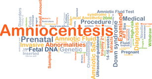 Amniocentesis background concept Royalty Free Stock Images