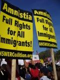 Amnisty pour des immigrés Images stock
