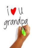 Amo al abuelo Fotos de archivo libres de regalías