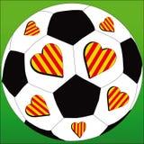 Amo al club amarillo y rojo del fútbol libre illustration