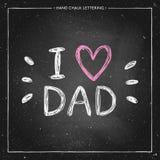 Amo al papá - cite con el corazón rosado Imagen de archivo