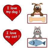 Amo animales domésticos stock de ilustración