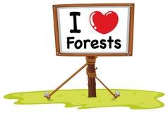 Amo bosques libre illustration