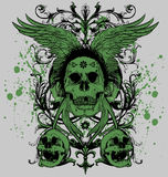Amo con alas del cráneo Imagen de archivo libre de regalías