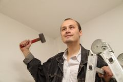Amo con un martillo Fotografía de archivo libre de regalías