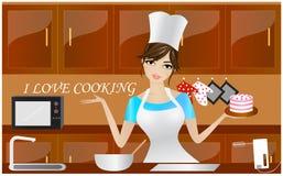Amo cucinare Fotografie Stock Libere da Diritti