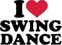 Amo danza del oscilación stock de ilustración
