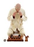 Amo de la ceremonia de té imagen de archivo libre de regalías