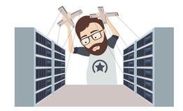 Amo de la marioneta de Datacenter Fotografía de archivo