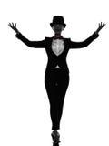 Amo de la mujer de la silueta del presentador de las ceremonias imagen de archivo libre de regalías