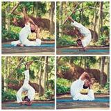 Amo de la yoga en la India Foto de archivo libre de regalías