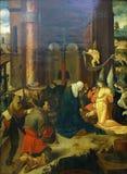 Amo de llevar la cruz del amo J de Douija Kock: Nacimiento y adoración de los pastores Fotografía de archivo