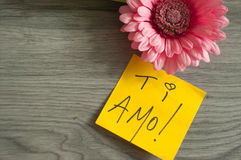 AMO de Ti de note d'amour ! Photos libres de droits