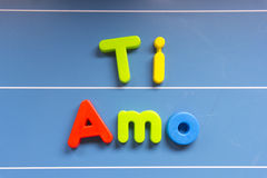 AMO de Ti sur le tableau Photographie stock libre de droits