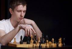 Amo del ajedrez fotos de archivo libres de regalías