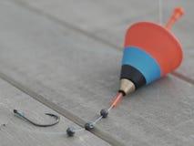 Amo del bobber di pesca Fotografie Stock Libere da Diritti