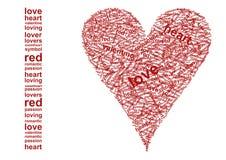Amo? delle parole Fotografie Stock Libere da Diritti