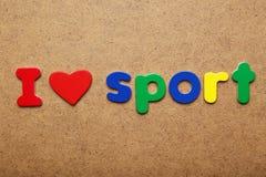 Amo deporte imagen de archivo libre de regalías