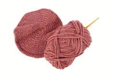 Amo e lane di Crochet Fotografie Stock Libere da Diritti