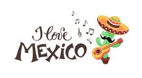 Amo el cactus de México Imágenes de archivo libres de regalías