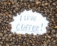 Amo el café Foto de archivo libre de regalías