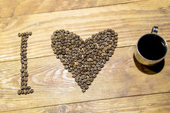 Amo el café y x28; espresso& x29; Imagenes de archivo