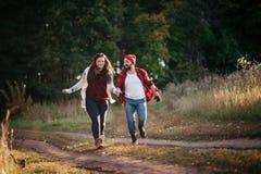 Amo el correr en el campo Foto de archivo