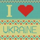 Amo el ejemplo de Ucrania. modelo que hace punto Foto de archivo libre de regalías