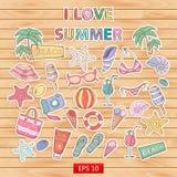 Amo el sistema del verano Fotos de archivo
