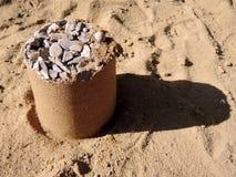 Amo en las tortas de arena Imágenes de archivo libres de regalías