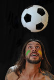 Amo fútbol Imagen de archivo libre de regalías