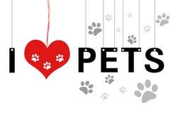 Amo gli animali domestici Immagine Stock Libera da Diritti