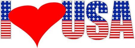 Amo gli S.U.A. Fotografia Stock