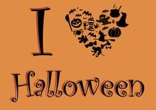 Amo Halloween Fotografia Stock